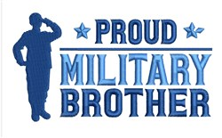 Military Brother embroidery design