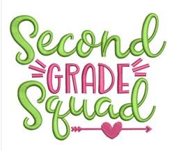 Second Grade Squad embroidery design