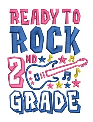 Rock 2nd Grade embroidery design