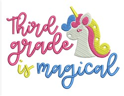Magical Third Grade embroidery design