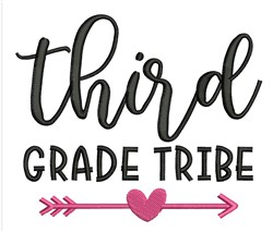 Third Grade Tribe embroidery design