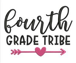 Fourth Grade Tribe embroidery design