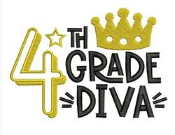 4th Grade Diva embroidery design