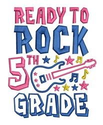 Rock 5th Grade embroidery design