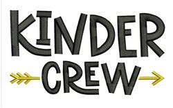 Kinder Crew embroidery design
