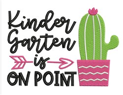 Kindergarten On Point embroidery design
