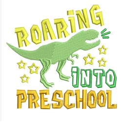 Roaring Preschool embroidery design