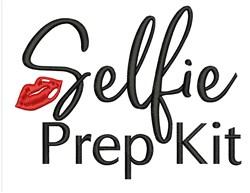 Selfie Prep Kit embroidery design