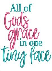 Gods Grace embroidery design