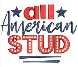All American Stud embroidery design