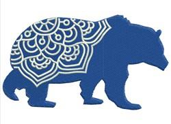 Mandala Bear embroidery design