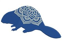 Mandala Beaver embroidery design