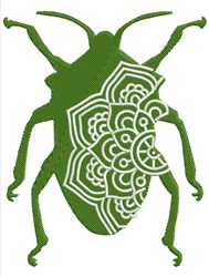 Mandala Beetle embroidery design