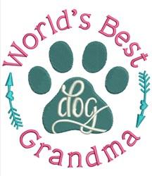 Dog Grandma embroidery design
