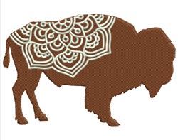 Mandala Bison embroidery design