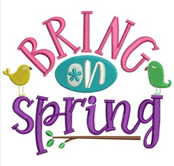 Bring On Spring embroidery design