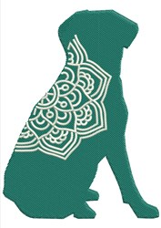 Mandala Dog embroidery design