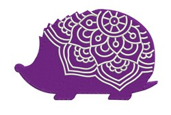 Mandala Hedgehog embroidery design