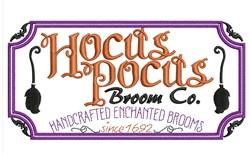 Hocus Pocus embroidery design