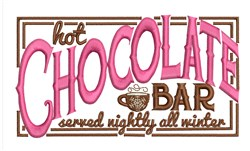 Hot Chocolate Bar embroidery design