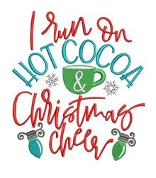 Run On Hot Cocoa embroidery design