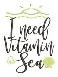 Vitamin Sea embroidery design