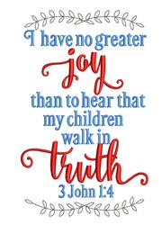 3 John 1:4 embroidery design