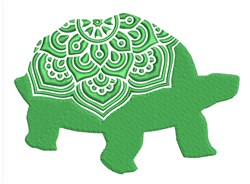 Mandala Tortise embroidery design