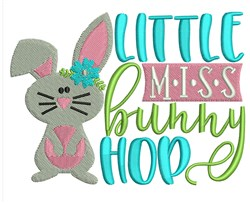 Miss Bunny Hop embroidery design