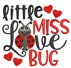 Miss Love Bug embroidery design