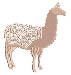 Mandala Llama embroidery design