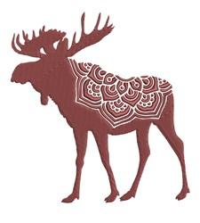 Mandala Moose embroidery design