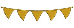 Pennant Border embroidery design