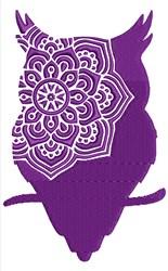 Mandala Owl embroidery design