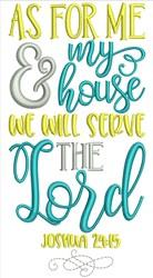 Joshua 24:15 embroidery design