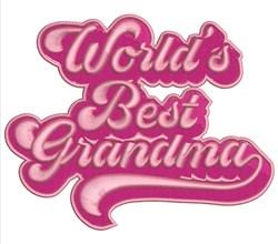Worlds Best Grandma embroidery design