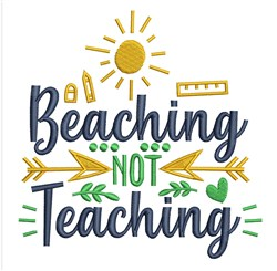 Beaching Not Teaching embroidery design