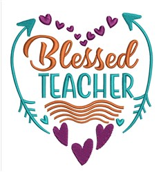 Blessed Teacher embroidery design