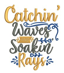 Catchin Waves embroidery design