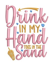 Drink In Hand embroidery design