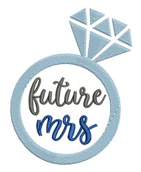 Future Mrs embroidery design