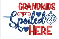 Grandkids Spoiled embroidery design