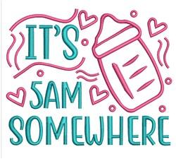 5AM Somewhere embroidery design