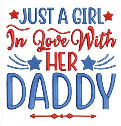 Her Daddy embroidery design