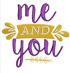 Me And You embroidery design