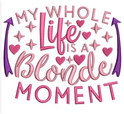 Blonde Moment embroidery design