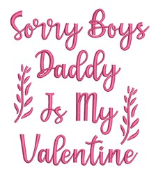 Sorry Boys embroidery design
