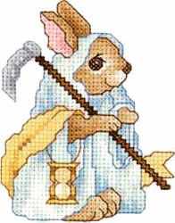 Father Time Bunny embroidery design