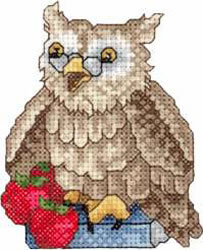Back To School Owl embroidery design