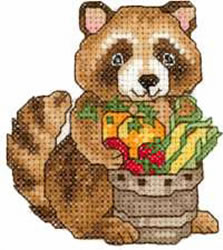 Thanksgiving Raccoon embroidery design
